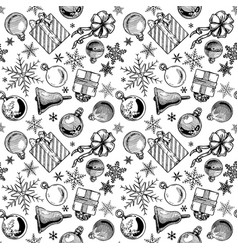 Christmas background seamless tiling vector