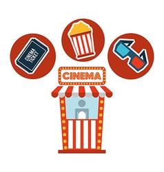 cinema film design vector image
