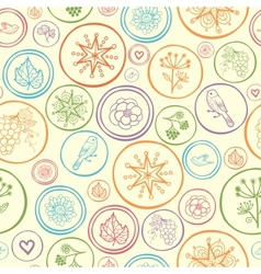 colorful circles seamless pattern background vector image