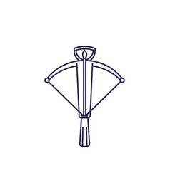 crossbow line icon on white vector image