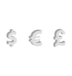dollar euro pound sterling flat icon currency vector image