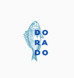 Dorado abstract sign symbol or logo vector
