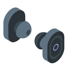 Earbuds headset icon isometric style vector