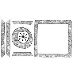 Ethnic african handmade ornament element vector