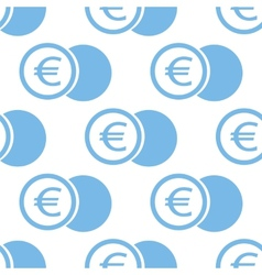 Euro coin seamless pattern vector image