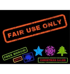 Fair Use Only Rubber Stamp vector