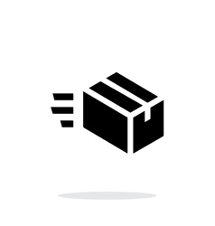 Fast delivery simple icon on white background vector