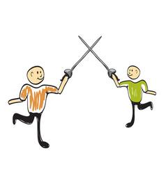 fencer icon vector image