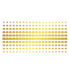 first aid toolbox gold halftone array vector image