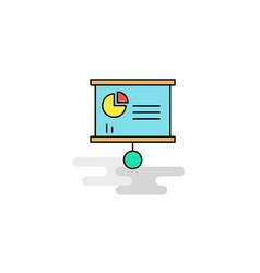 flat presentation chart icon vector image