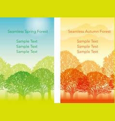 Forest 1 spring vector