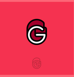 g monogram logo red vector image