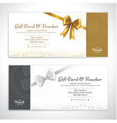 Gift certificate voucher gift card or cash coupon vector