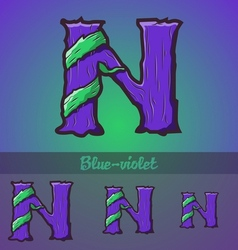 Halloween decorative alphabet - N letter vector