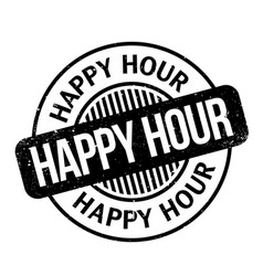 Happy hour rubber stamp vector
