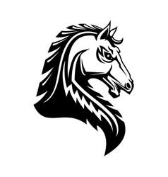 Heraldic horse head isolated heraldry emblem vector