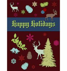 holiday print vector image
