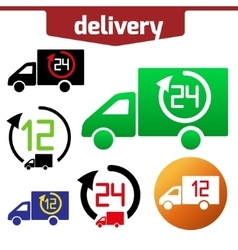 Icons set of Fast delivery The business vector