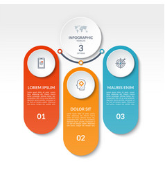 infographic template of 3 options tabs bars vector image