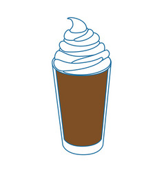 isolated milk shake vector image