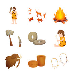 Isolated object age and stone sign set age vector