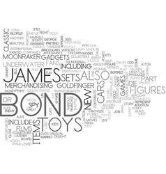 James bond toys text background word cloud concept vector