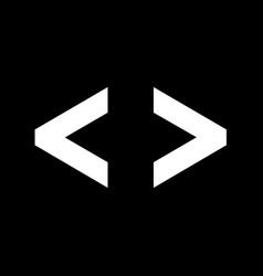 language html icon progrmming code icon design vector image