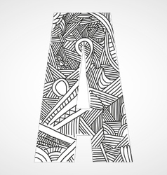 Letter A from doodle alphabet vector image