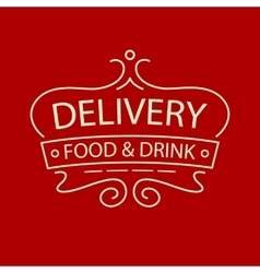 logo for delivery food and drink restaurant vector image