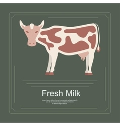Logotype of fresh milk vector