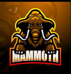mammoth mascot esport logo design vector image