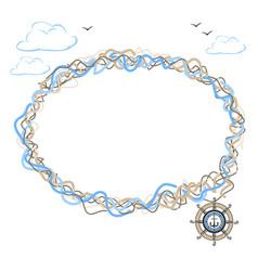 marine frame vector image