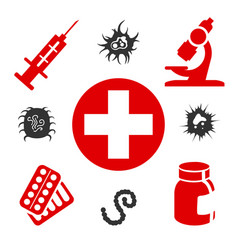 medical icons with equipment vector image