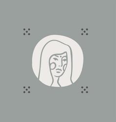 modern feminine portrait women a logotype vector image