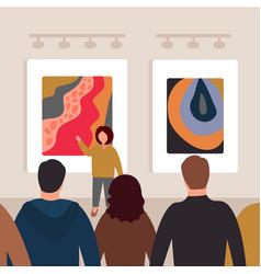 Museum art gallery 3 vector