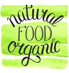 natural organic food vector image