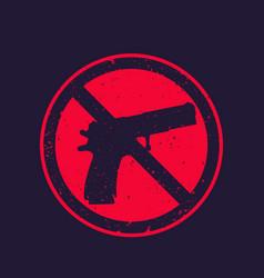 No guns sign with pistol vector