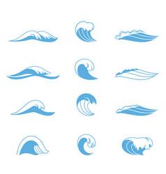 Ocean or sea waves vector