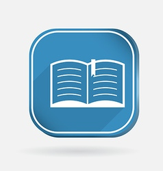 open book Color square icon vector image
