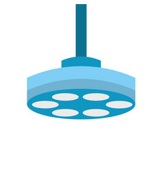 Operating theater lamp icon vector