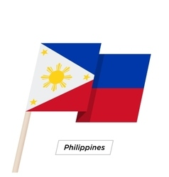 Philippines Ribbon Waving Flag Isolated on White vector image