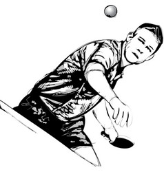 Ping pong player vector
