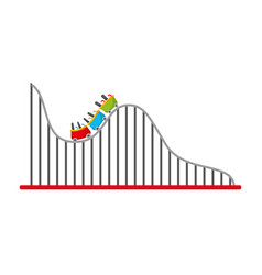 Roller coaster isolated icon vector