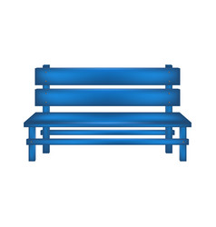 Rural bench in blue design vector