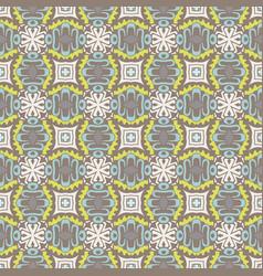 seamless geometric tile pattern surface design vector image