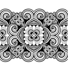 seamless pattern with floral element vector image