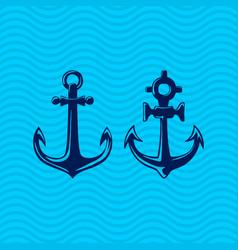 Set sea anchors vector
