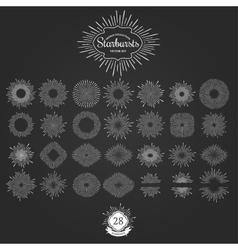 set starbursts for vintage logos vector image