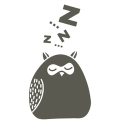 Sleeping owl on the snow vector