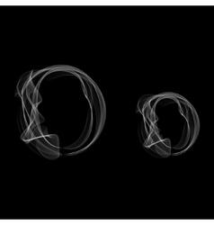 Smoke font letter o vector